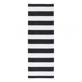 Čierno-biely behúň vhodný do exteriéru Narma Birkas, 70 × 350 cm