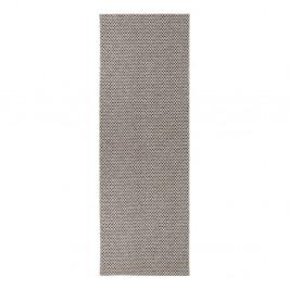 Krémovo-čierny behúň vhodný do exteriéru Narma Diby, 70 × 200 cm