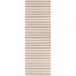 Hnedo-biely behúň vhodný do exteriéru Narma Hullo, 70 × 250 cm