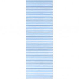 Modro-biely behúň vhodný do exteriéru Narma Hullo, 70 × 250 cm