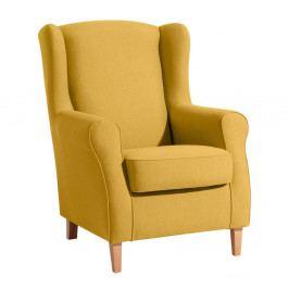 Žlté kreslo ušiak Max Winzer Lorris Yellow