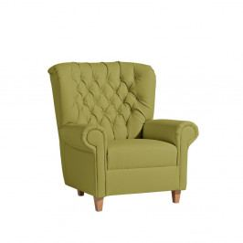 Zelené kreslo Max Winzer Recliner Vicky Leather Green