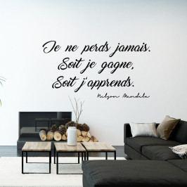 Samolepka s francúzskym citátom Ambiance Je Ne Perds, 50 x 100 cm