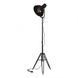 Čierna stojacia lampa De Eekhoorn Spotlight
