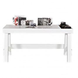 Biely pracovný stôl z borovicového dreva De Eekhoorn Grooving