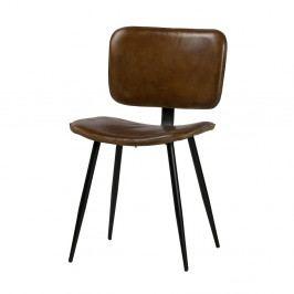 Jedálenská stolička s hnedým koženým sedadlom De Eekhoorn Range
