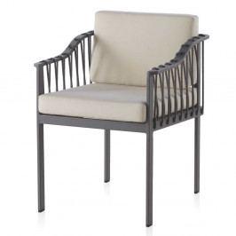 Sada 2 sivých záhradných stoličiek Geese Mula