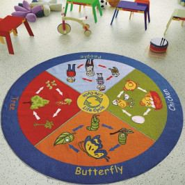 Detský koberec Life Cycle, ⌀ 200 cm