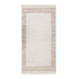 Zamatový behúň Deri Makna Dijital Brown, 80 x 200 cm
