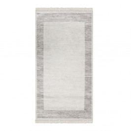 Zamatový koberec Deri Dijital Grey Framo, 80 x 300 cm