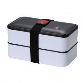 Sivý desiatový box s príborom Bergner Lunch Time