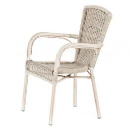 Biela stohovateľná záhradná stolička Massive Home Granada