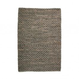 Hnedý koberec z kože a juty De Eekhoorn Twined, 240×170cm
