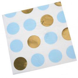 Sada 16 modrých obrúskov Neviti Pattern Works