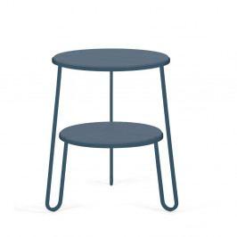 Modrosivý odkladací stolík HARTÔ Anatole, ⌀40cm