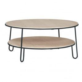 Konferenčný stolík so sivou kovovou konštrukciou HARTÔ Eugénie, ⌀90cm