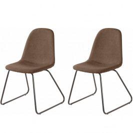 Sada 2 hnedých jedálenských stoličiek Støraa Colombo