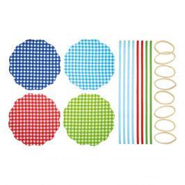 Sada 8 textilných ozdôb na zaváranie Kitchen Craft Gingham