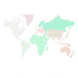Nástenná samolepka Dekornik Map Pastel