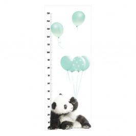 Nástenná samolepka s výškomerom Dekornik Minty Panda