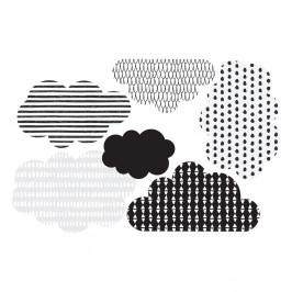 Sada 6 nástenných samolepiek Dekornik Scandi clouds