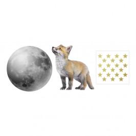 Nástenná samolepka Dekornik Little Fox And His Friend The Moon