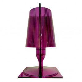 Tmavoružová stolová lampa Kartell Take