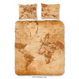 Hnedé bavlnené obliečky Muller Te×tiels World, 240×200 cm