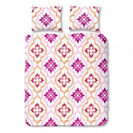 Ružové bavlnené obliečky na jednolôžko Müller Textiel Tiled, 140×200 cm