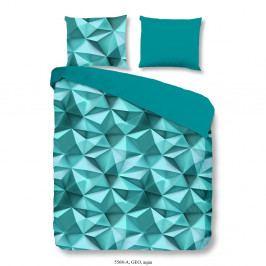 Mentolovo modré obliečky Muller Textiel Geo, 240×200 cm