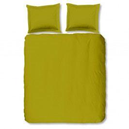 Svetlozelené bavlnené obliečky Muller Textiels Uni, 200×200cm