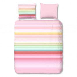 Prúžkované bavlnené obliečky Muller Textiel Descanso, 140×200cm