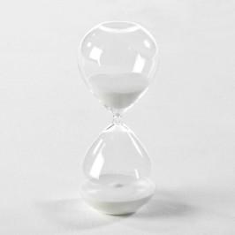 Presýpacie hodiny s bielym pieskom Thai Natura, 9×18 cm