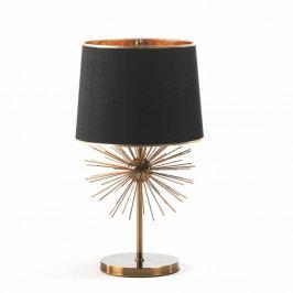 Stolová lampa z kovu v čierno-zlatom prevedení Thai Natura, 40×73cm