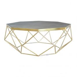 Konferenčný stolík s podnožou v zlatej farbe Livin Hill Glamour, ⌀106cm