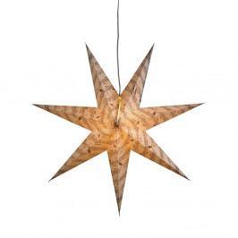Závesná svietiaca hviezda Musica, Ø75 cm, sivá