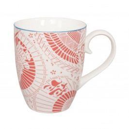 Červeno-biely porcelánový hrnček Tokyo Design Studio Shiki, 380ml