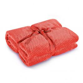 Červená deka z mikrovlákna DecoKing Henry, 220×240 cm