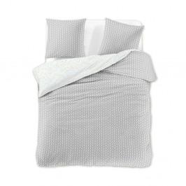 Obliečka z bavlneného saténu DecoKing Herringbone, 200×220 cm + 2 obliečky na vankúše 70 x 90 cm