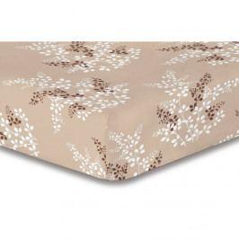 Hnedá elastická plachta so vzorom DecoKing Hypnosis Calluna, 90×200cm