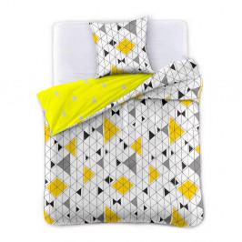 Obliečka z bavlneného saténu DecoKing Geometric, 200×220 cm + 2 obliečky na vankúše 70 x 90