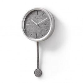 Nástenné hodiny v striebornej farbe La Forma Nexo