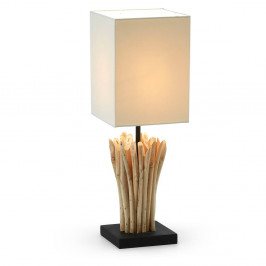 Biela stolová lampa La Forma Poob