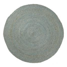 Modrý jutový koberec Dip, Ø 100cm