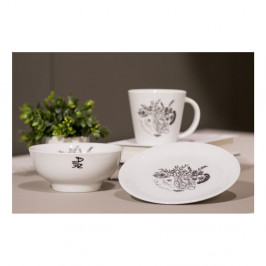 Ručne dekorovaný tanier z karlovarského porcelánu s motívom Mysli srdcom od Jitky Tomanovej pre KlokArt