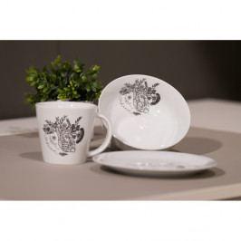 Ručne dekorovaný hrnček z karlovarského porcelánu Mysli srdcom od Jitky Tomanovej pre KlokArt, 200 ml