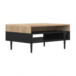 Čierny konferenčný stolík v dekore dubového dreva Symbiosis Horizon