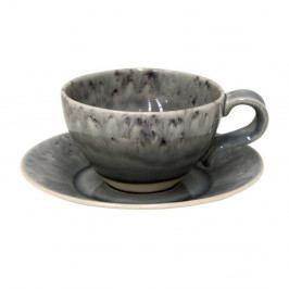 Sivý kameninový hrnček na čaj s tanierikom Costa Nova, 250 ml