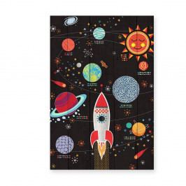 Obraz na drevenej doske Little Nice Things Space, 60 x 40 cm