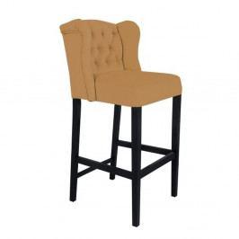 Horčicovožltá barová stolička Mazzini Sofas Roco